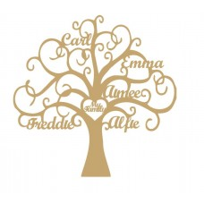 3mm MDF Personalised Tree - My Family Tree  Trees Freestanding, Flat & Kits