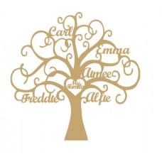 3mm MDF Personalised Tree - My Family Tree  Trees Freestanding, Flat & Kits