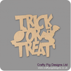 3mm MDF New Trick or Treat sign Halloween