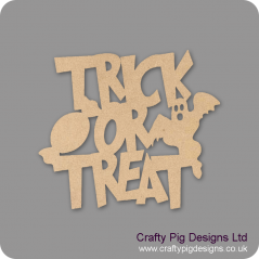 3mm MDF New Trick or Treat sign