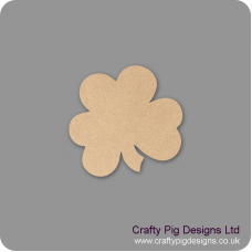 3mm MDF 3 Leaf Clover Shape Basic Shapes