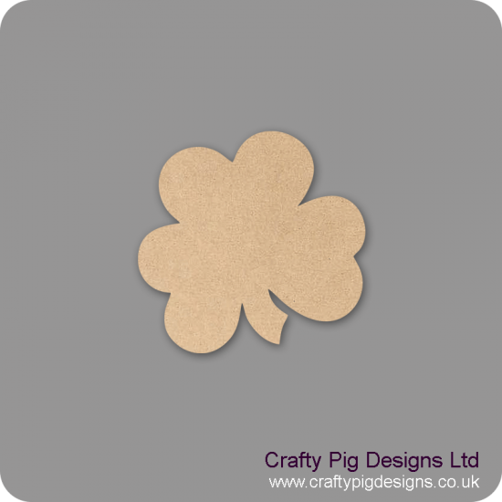 3mm MDF 3 Leaf Clover Shape Basic Shapes