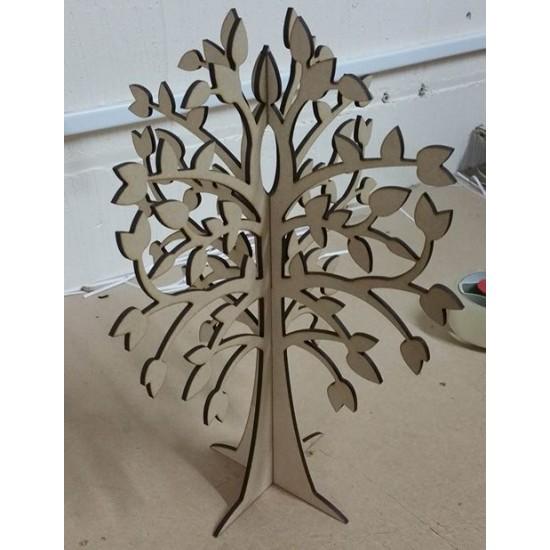 4MM MDF 3D Wishing Tree Trees Freestanding, Flat & Kits