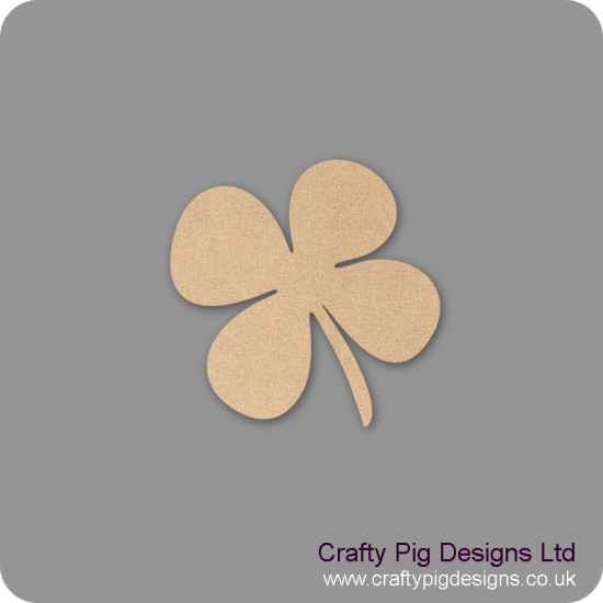 3mm MDF 4 Leaf Clover Shape