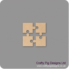 3mm MDF4 Piece Corner Jigsaw Piece Set Basic Shapes