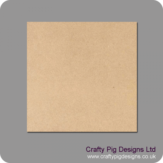 3mm MDF Blank Square or Circular Plaques Basic Plaque Shapes