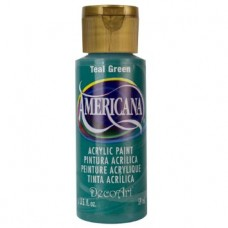 Decoart Americana Acrylic Paint -  Teal Green 2oz Decoart Americana Acrylic Paints