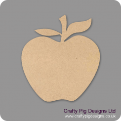 3mm MDF Apple 2 Leaves