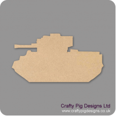3mm MDF Army Tank (Pack of 10) (3cm) Transport