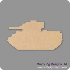 3mm MDF Army Tank (Pack of 10) (3cm)