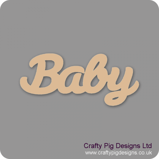 3mm MDF Baby Word Joined In Susa Font