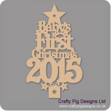 3mm MDF Baby's First Christmas Tree 2021 with Plinth Trees Freestanding, Flat & Kits