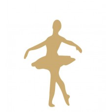 3mm mdf Ballet Dancer Shape Small MDF Embellishments