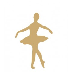 3mm mdf Ballet Dancer Shape