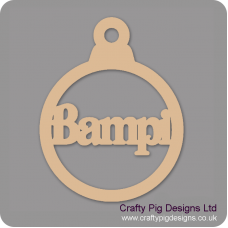 3mm MDF Bampi bauble Christmas Baubles