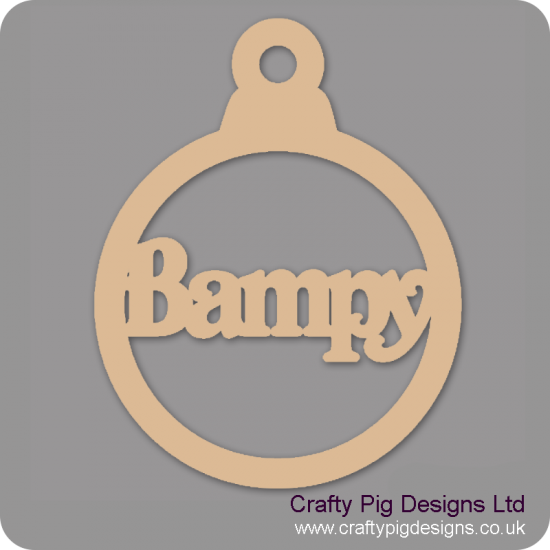 3mm MDF Bampy bauble Christmas Baubles