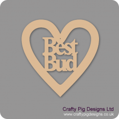 3mm MDF Best Bud Heart