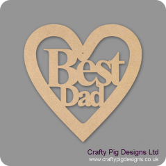 3mm MDF Best Dad Heart