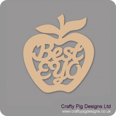 3mm MDF Best EYO - Hanging Apple Teachers
