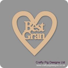 3mm MDF Best Gran Heart