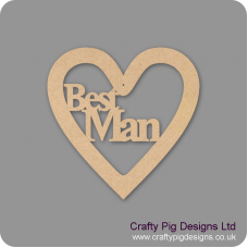 3mm MDF Best Friend Heart Wedding
