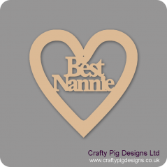 3mm MDF Best Nannie Heart