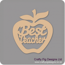 3mm MDF Best Teacher - Hanging Apple Teachers
