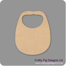 3mm MDF Bib Small MDF Embellishments