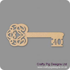 3mm MDF Birthday Key 40 Keys and Keyrings