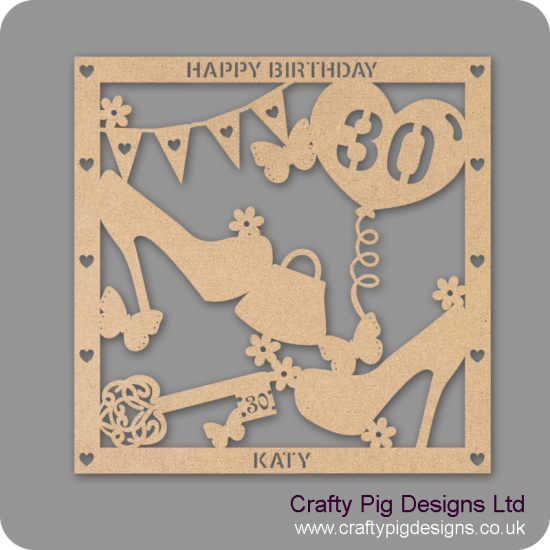 3mm MDF Personalised Square Birthday Plaque  Personalised and Bespoke