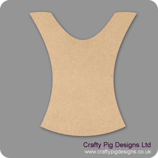 3mm MDF Bodice Shape Small MDF Embellishments
