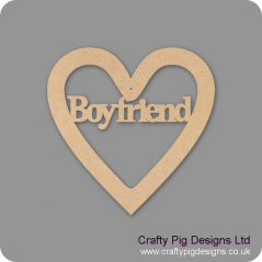 3mm MDF Boyfriend Heart