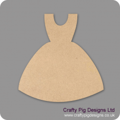 3mm MDF Bridesmaid Dress Shape Small MDF Embellishments