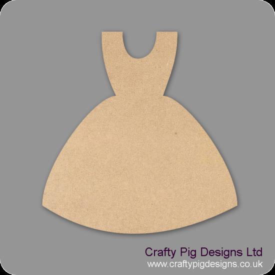 3mm MDF Bridesmaid Dress Shape Small MDF Embellishments