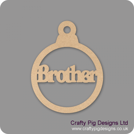3mm MDF Brother Bauble Christmas Baubles