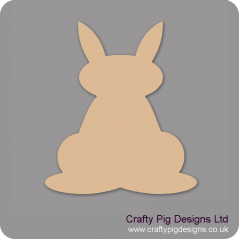 3mm MDF Bunny Rabbit With Ears Up Easter