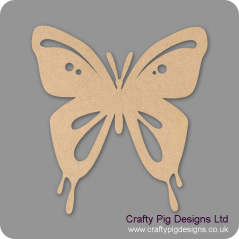 3mm MDF Butterfly 4 With Cut Outs