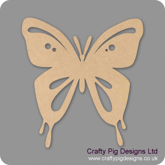 3mm MDF Butterfly 4 With Cut Outs Animal Shapes