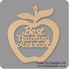 3mm MDF Best Teaching Assistant - Hanging Apple Teachers