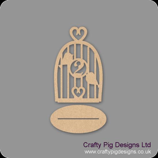 3mm MDF Birdcage Wedding Table Design 1