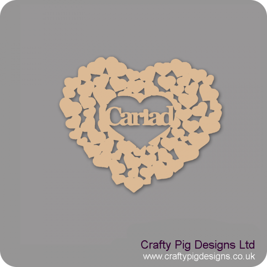 3mm MDF Cariad Heart Of Hearts Valentines