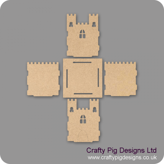 3mm MDF Castle Pencil Pot