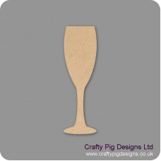 3mm MDF champagne Flute Shape Small MDF Embellishments
