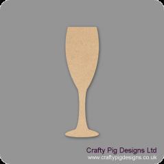 3mm MDF champagne Flute Shape Small MDF Embellishments