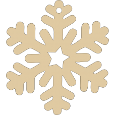 3mm MDF Dreamcatcher Snowflake - (pack of 5) Christmas Shapes