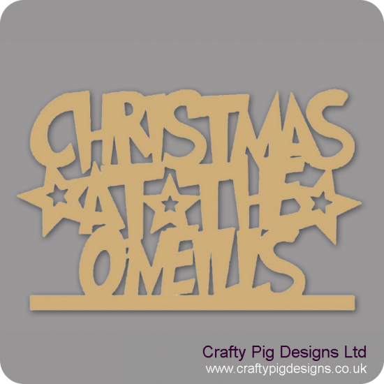 3mm MDF Funky Font Christmas at the Sign Christmas Shapes