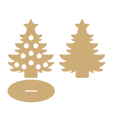 3mm MDF Coin Christmas Tree Christmas Crafting