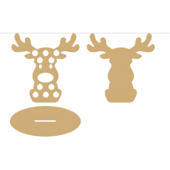 3mm MDF Coin Reindeer Christmas Crafting