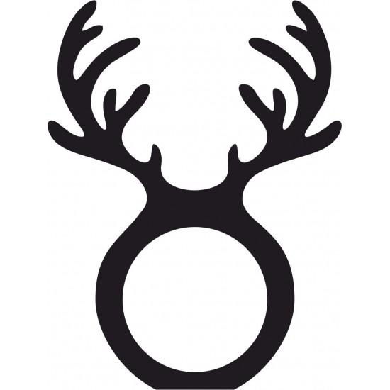 3mm mdf Antler Napkin Ring Christmas Shapes