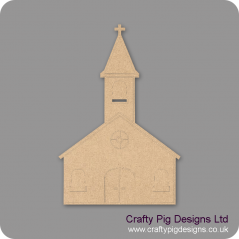 3mm MDF Church Shape Small MDF Embellishments